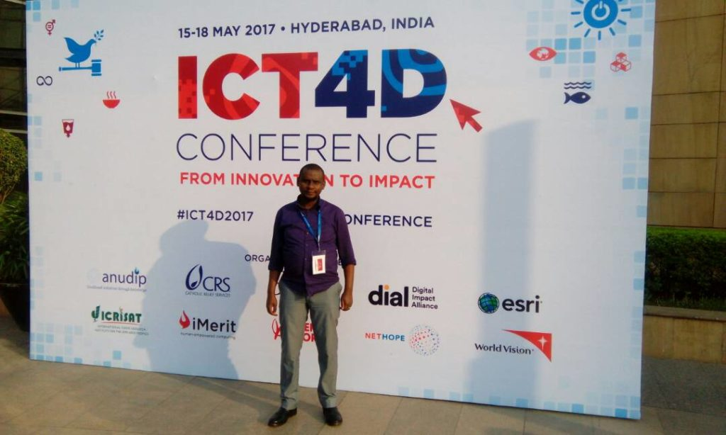 Zack Wambua at the ICT4D conference.