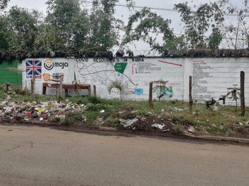 Kibera Resources mural along Kibera Drive.